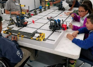 VVMS Robotics team, preparing for an upcoming event.
