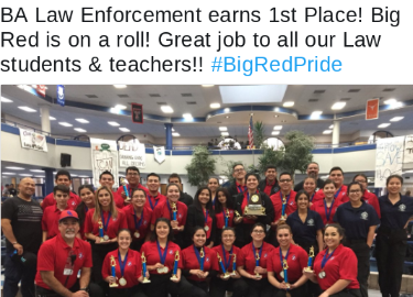 BA Law Enforcement earns 1st Place!