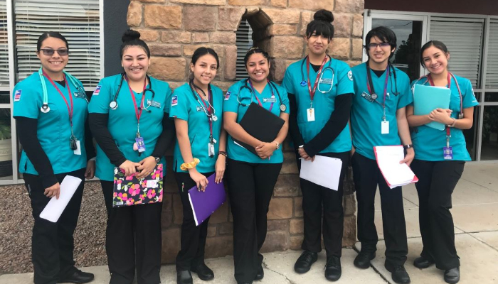 LVN Juniors Group A had their first day of clinical today as nursing students. First rotation at the adult daycare.