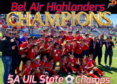 Highlander Boys Varsity Soccer Team 5A STATE Champions!! Congratulations on bringing home our first state title in boys soccer. Congratulations Ivan Arroyo for being selected the MVP!