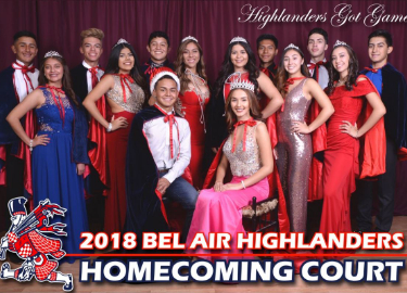 Congratulations 2018 Homecoming Court!
