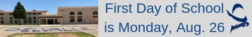 First day of school Monday August 26