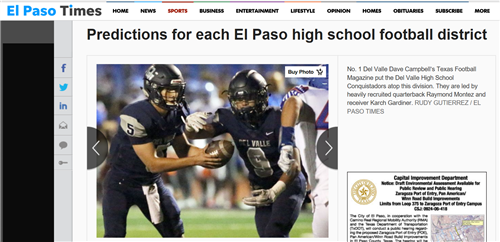 El Paso Times Football Article