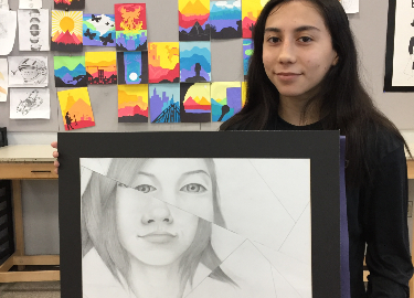 Hanks Art 1 Students Compete in VASE Art Competition