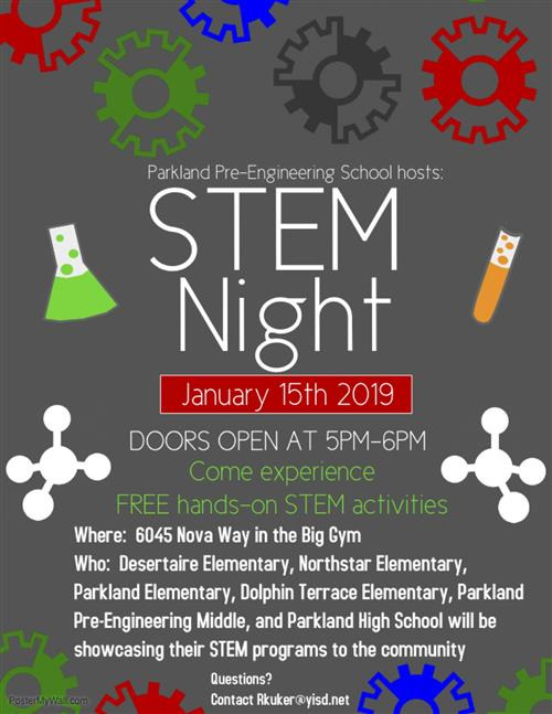 STEM NIGHT JANUARY 15 2019