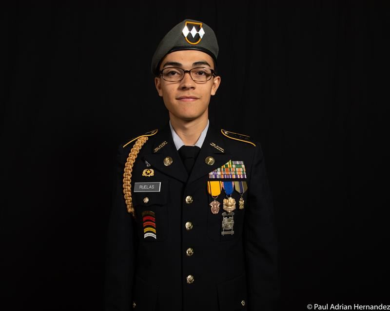 YHS Nathan Ruelas Earns Top ROTC Rank
