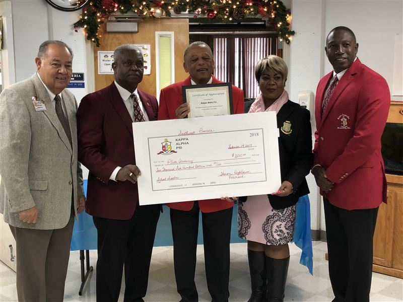 Kappa Alpha Psi Fraternity Donation
