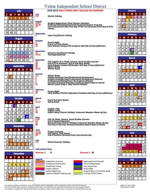Yisd Calendar 2022.E L P A S O C O U N T Y S C H O O L C A L E N D A R Zonealarm Results