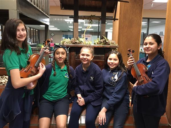 Five YWLA students were selected to participate in the YISD Elementary Honor Orchestra.