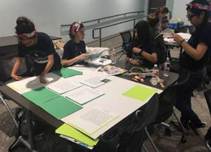 YWLA ladies working hard at the YWPN Girls Innovate STEM Competition