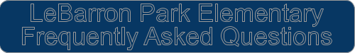 LeBarron Park Frequently asked questions