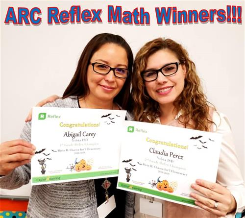 Reflex Math Winners