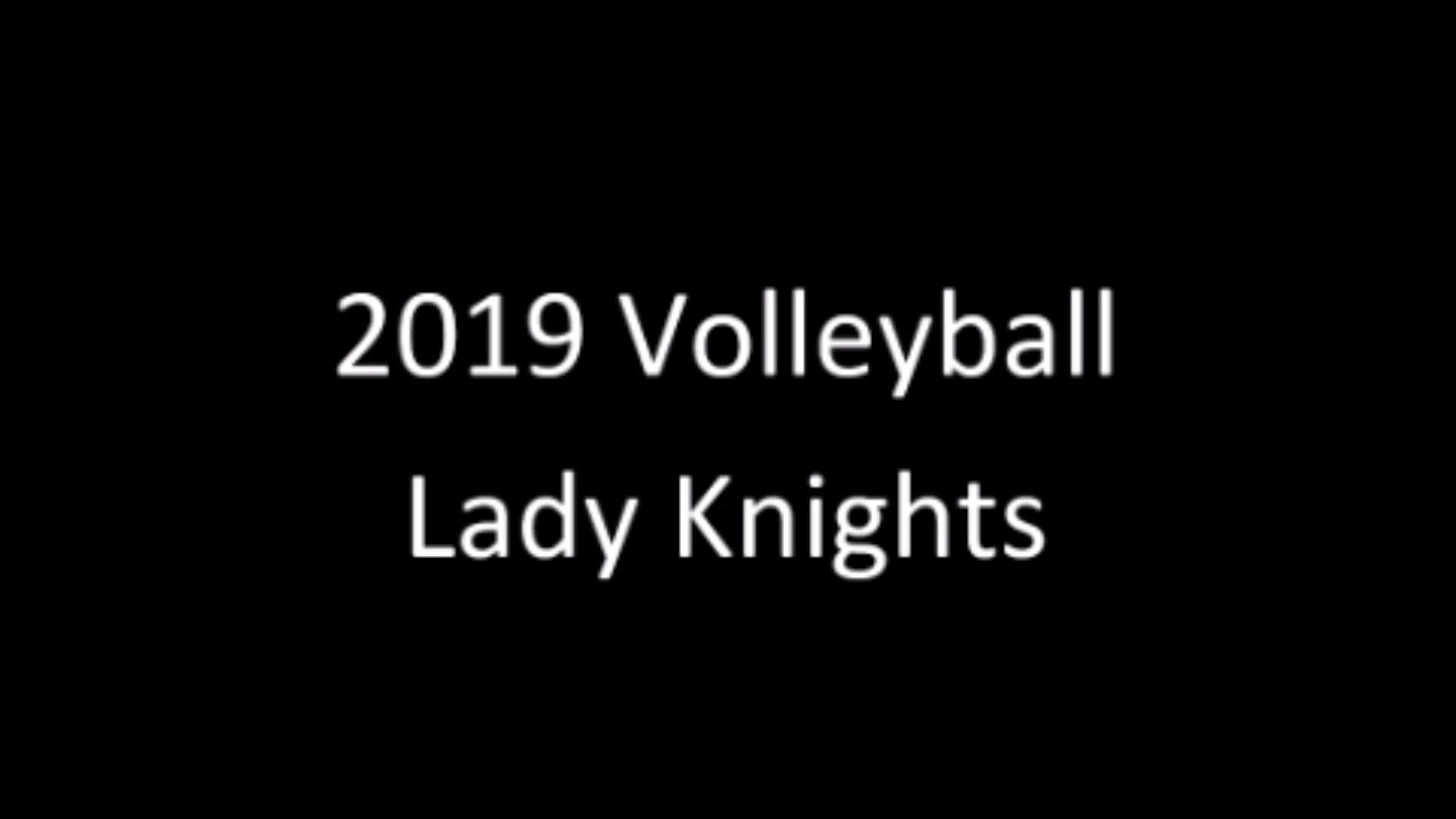 2019 Lady Knight Volleyball